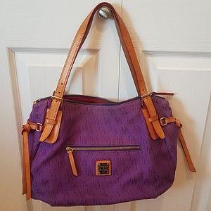Dooney & Bourke purple large nina bag